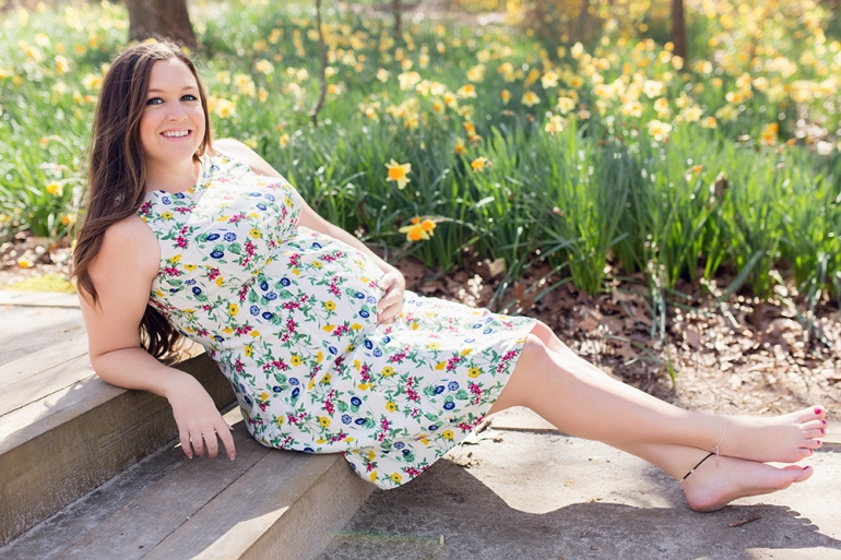 Ashburn Ga Photographer Blossoming among the daffodils spring maternity session