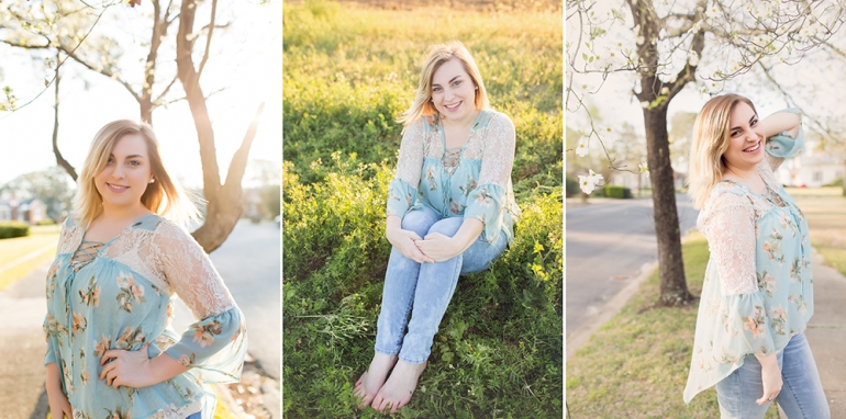 Ashburn Ga Senior Photographer styling senior session floral spring senior session