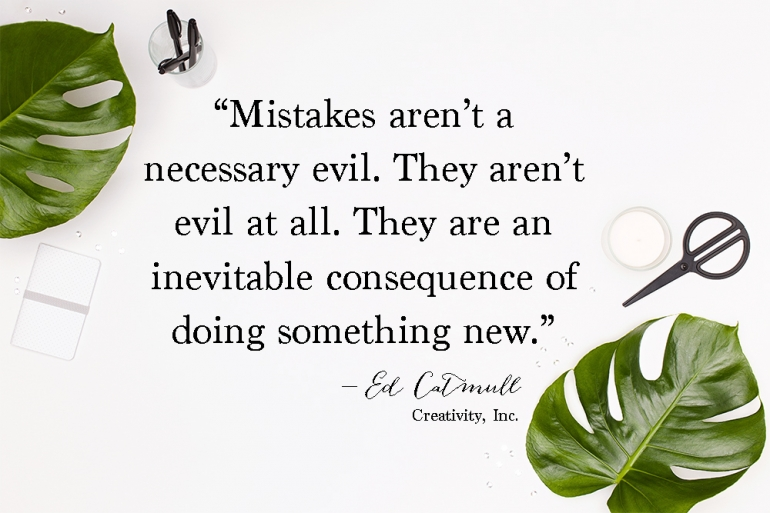 Mistakes mean progress