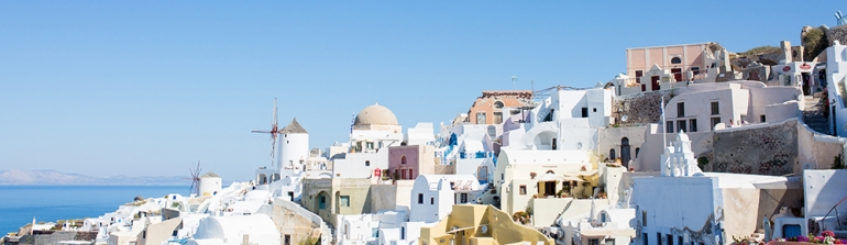 finding a photographer while traveling abroad Santorini Greece Oia